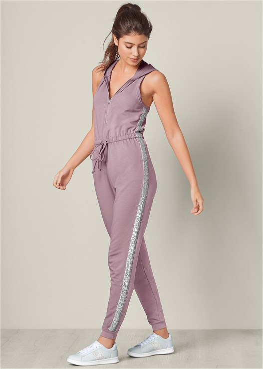LOUNGE JUMPSUIT,NATURAL BEAUTY VELVET BRA