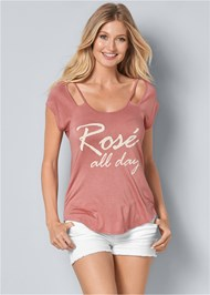 Front View Rose All Day Graphic Tee