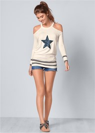 Alternate View Sequin Star Sweatshirt