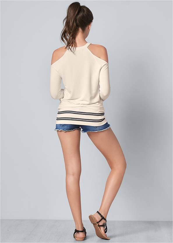 Back View Sequin Star Sweatshirt