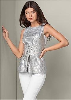corset waist lounge top