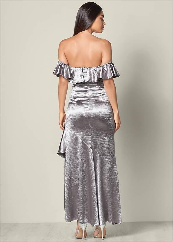 Alternate View Ruffle Detail Long Dress