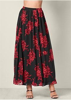 floral circle maxi skirt