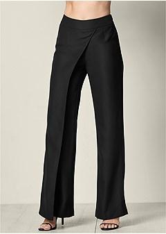 drape front pants
