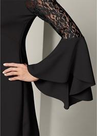 Alternate View Lace Detail Bodycon Dress