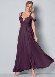 Front View Cold Shoulder Detail Dress