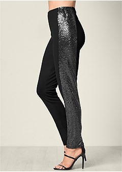 sequin detail leggings