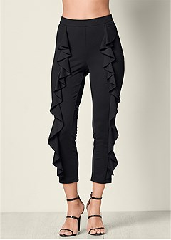 ruffle detail pants