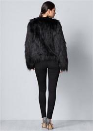 BACK VIEW Faux Fur Jacket
