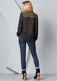 Back View Leopard Blouse