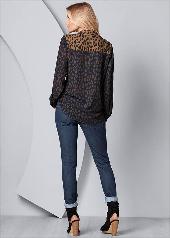 Back View Leopard Blouse