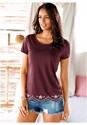 Front View Scalloped Hem Top