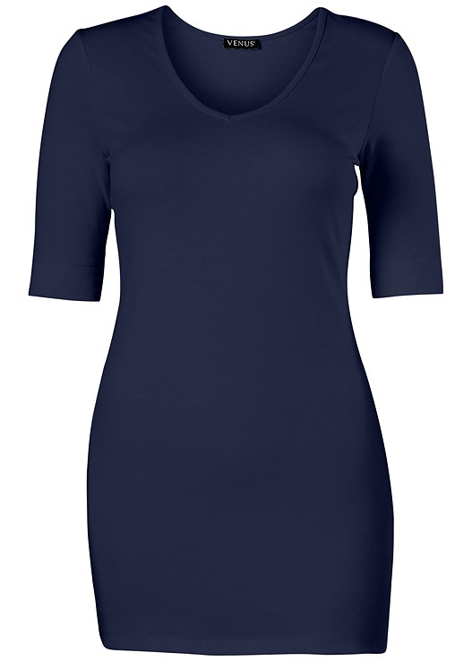7b0d0c17950 Navy LONG AND LEAN TEE from VENUS