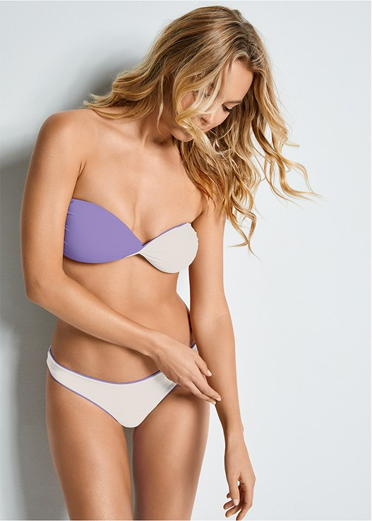 VERSATILITY BY VENUS ™ REVERSIBLE HIGH LEG BOTTOM,VERSATILITY BY VENUS™  REVERSIBLE BANDEAU TOP,VERSATILITY BY VENUS ™ REVERSIBLE LACE UP TOP,VERSATILITY BY VENUS ™  REVERSIBLE SCOOP TOP,VERSATILITY BY VENUS ® REVERSIBLE BIKINI BRALETTE