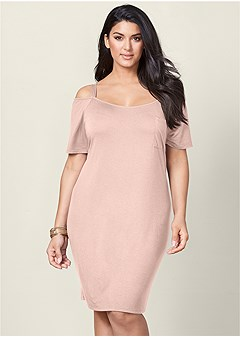 plus size pocket detail casual dress
