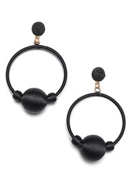 Alternate View Bauble Hoop Earrings
