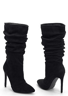high heel slouch boot