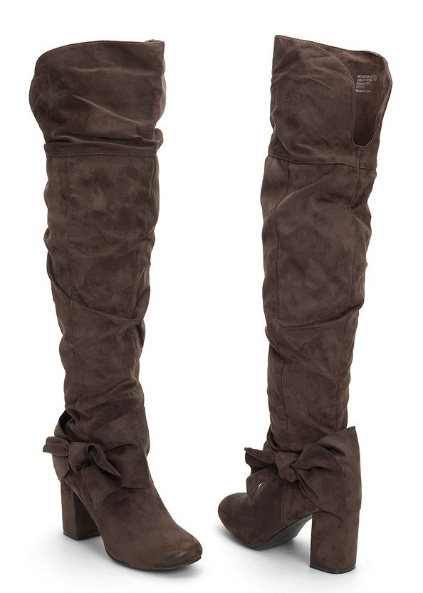 Front View Bow Detail Boots