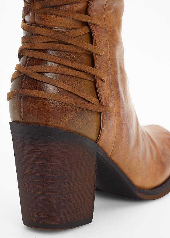 Alternate View Lace Up Detail Boots