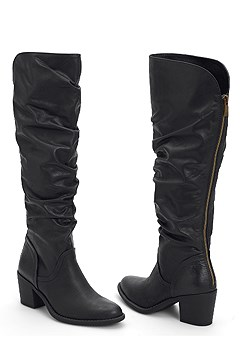 9d94ab0e12d high heel slouch boot.  59. more colors available. QUICK VIEW. slouchy mid  calf boots