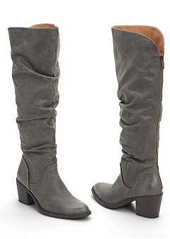 slouchy mid calf boot