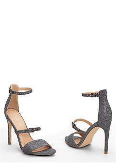 buckle detail strappy heel