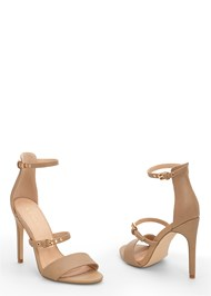 Front View Buckle Detail Strappy Heels