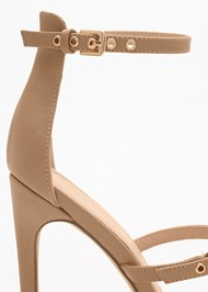Back View Buckle Detail Strappy Heels