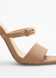 Alternate View Buckle Detail Strappy Heels