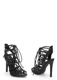 lace up cage heel