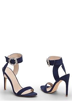 embellished buckle heel