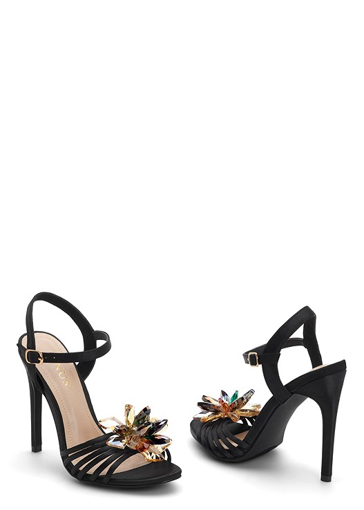EMBELLISHED FLOWER HEEL