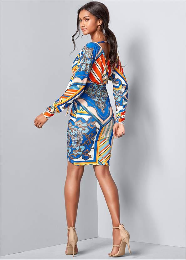 Back View Print Bodycon Dress