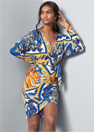 Front View Print Bodycon Dress