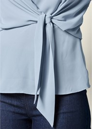 Alternate View Tie Front Blouse