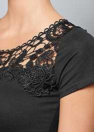 Alternate View Crochet Detail Top
