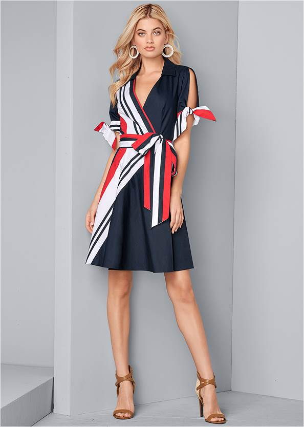 Alternate View Cold Shoulder Shirt Dress