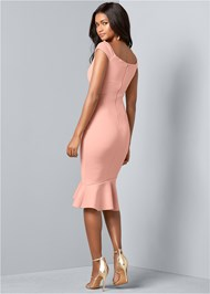 Back View Ruffle Detail Dress