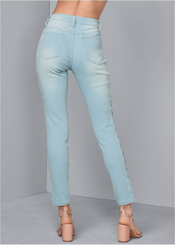 Back View Cut Out Detail Jeans