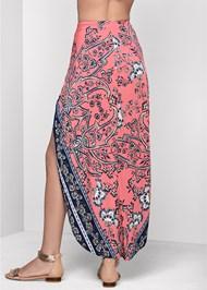 Back View Print Wrap Skirt