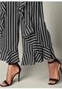 Alternate View Striped Ruffle Detail Pants