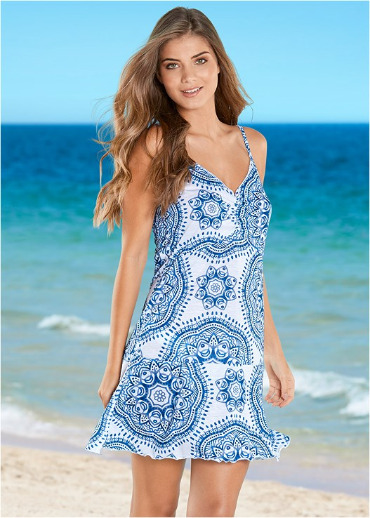 SPAGHETTI STRAP COVER-UP