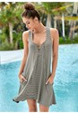 Front view Lace Up Sundress