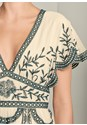 Alternate View Embroidered Detail Blouse