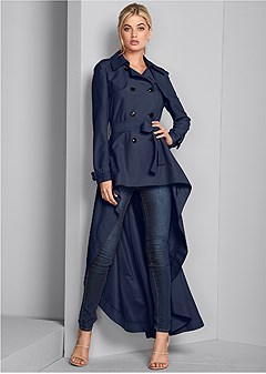 high low trench coat