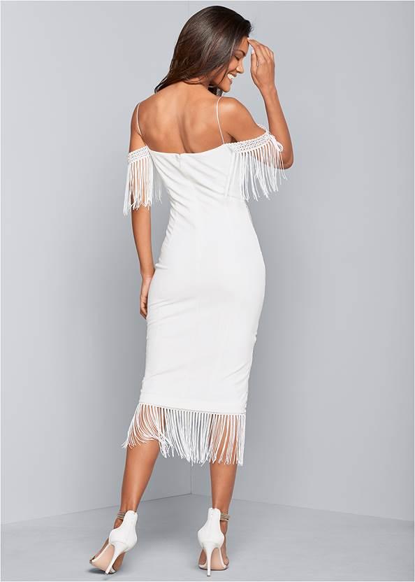 Alternate View Sequin Fringe Bodycon Dress