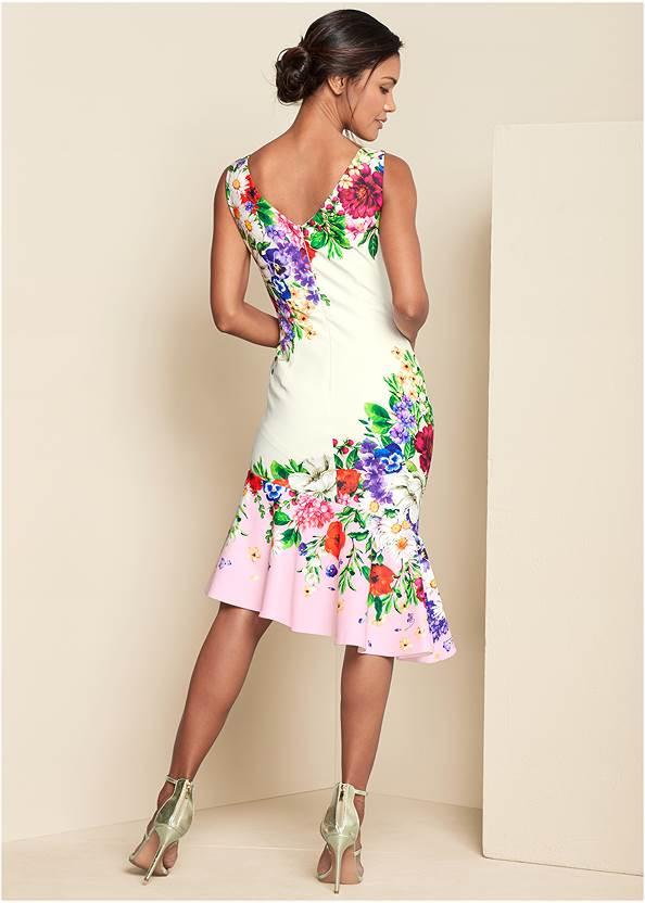Alternate View Ruffle Trim Detail Dress