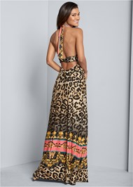 Alternate View Leopard Print Maxi Dress