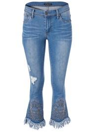 Alternate View Fringe Embellished Jeans