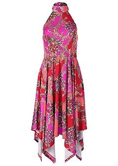 plus size halter handkerchief dress